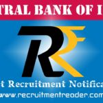Central Bank of India Recruitment Notification 2019