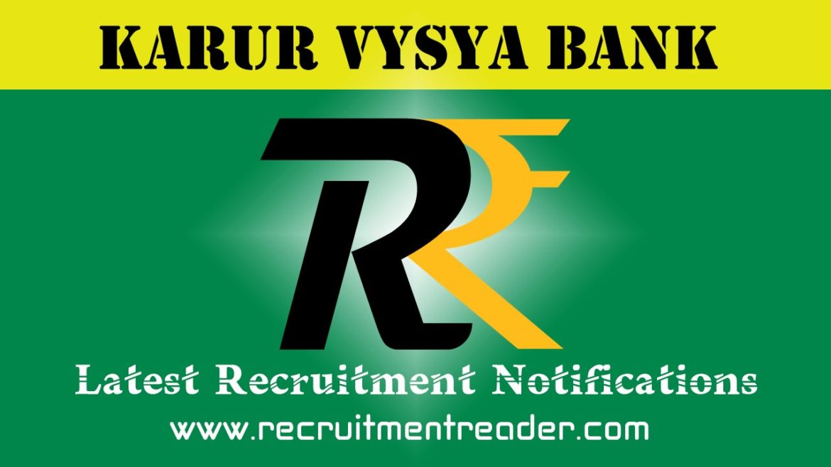 Karur Vysya Bank Recruitment Notification 2018