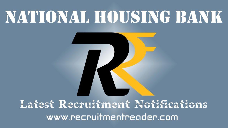 NHB Recruitment Notification 2018