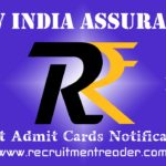 NIACL Exam Admit Card 2019