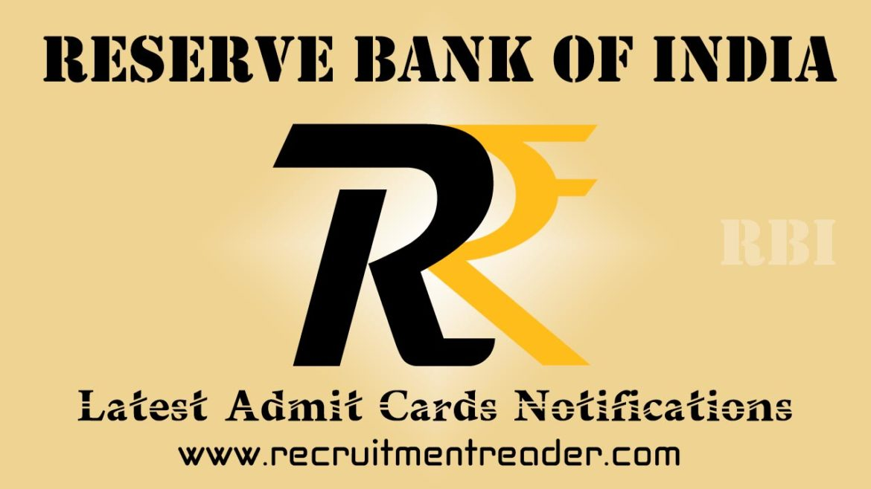 RBI Exam Admit Card 2018