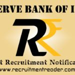 RBI Recruitment Notification 2019