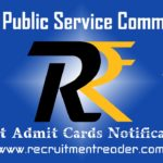 UPSC Exam Admit Card 2020