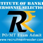 IBPS PO VIII Exam Admit Card 2018