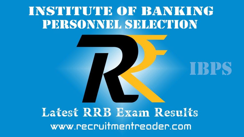 IBPS RRB VII Exam Result 2018