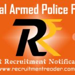 CAPF Recruitment Notification 2019