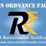 Ordnance Factory Recruitment Notification 2019