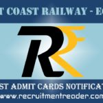 East Coast Railway Admit Card 2019