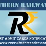 Southern Railway Admit Card 2019