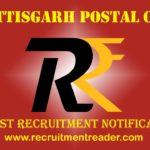 CG Postal Recruitment Notification