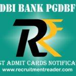 IDBI Bank PGDBF Admit Card
